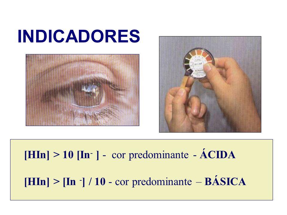 INDICADORES [HIn] > 10 [In- ] - cor predominante - ÁCIDA